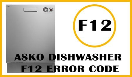 Asko dishwasher f12 error code