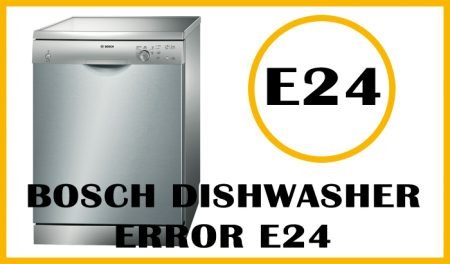 Bosch dishwasher error e24