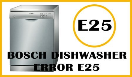 Bosch dishwasher error e25