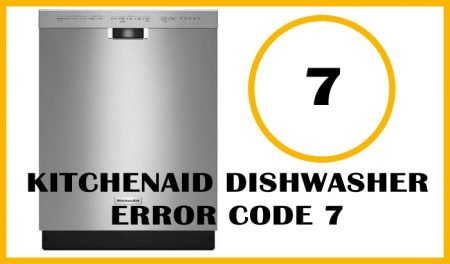 Kitchenaid dishwasher error code 7
