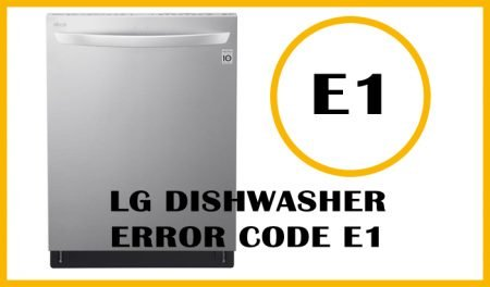 LG dishwasher error code e1