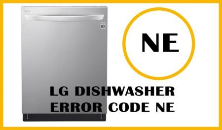 LG dishwasher error code ne