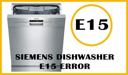 Siemens dishwasher e15 error
