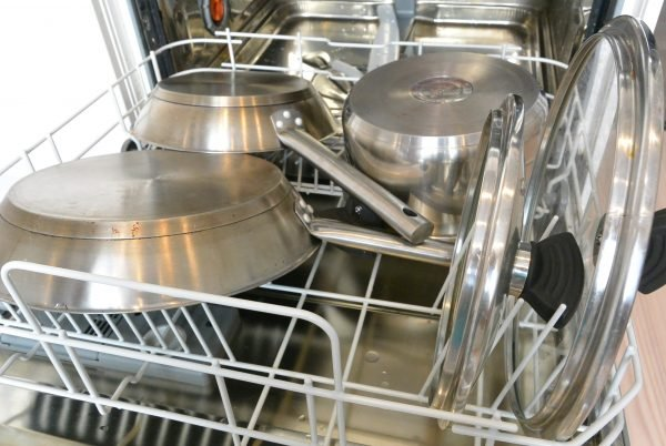 loading Plates and bowls into the dishwasher