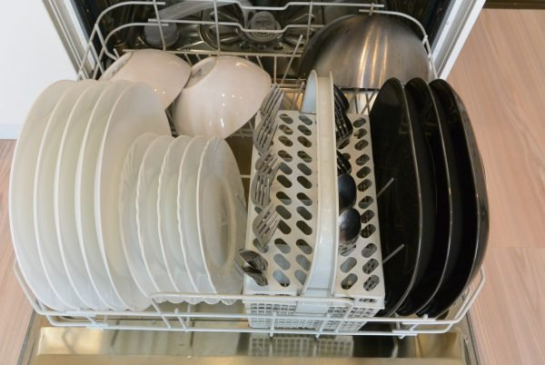 loading Silverware into the dishwasher