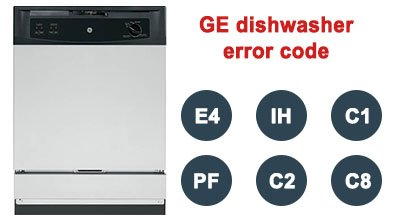 GE dishwasher error code