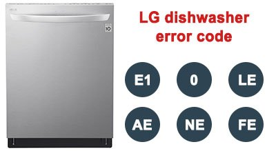 LG dishwasher error code