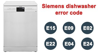 Siemens dishwasher error code