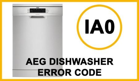 Aeg dishwasher error code ia0