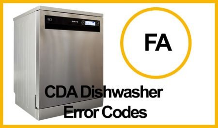 CDA Dishwasher Error FA