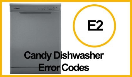 Candy Dishwasher Error E2