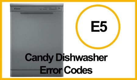 Candy Dishwasher Error E5