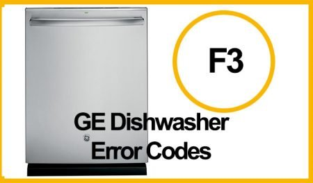 GE Dishwasher Error F3