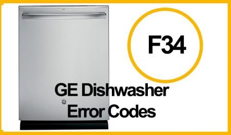 GE Dishwasher Error F34