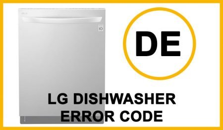 LG dishwasher error code de