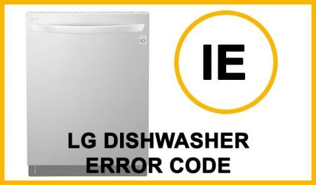 LG dishwasher error code ie