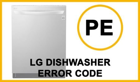 LG dishwasher error code pe