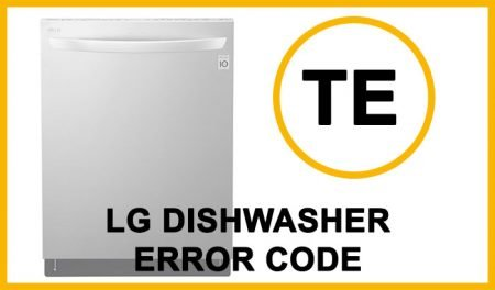 LG dishwasher error code te