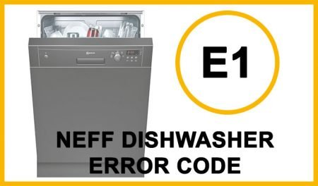 Neff dishwasher error code e1