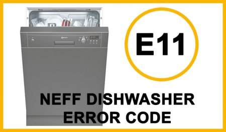 Neff dishwasher error code e11