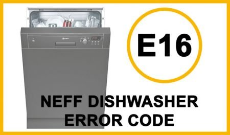 Neff dishwasher error code e16