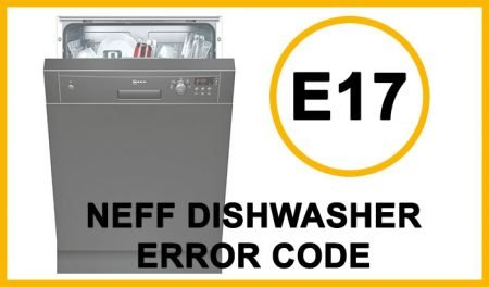 Neff dishwasher error code e17