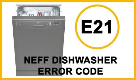 Neff dishwasher error code e21