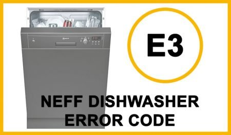 Neff dishwasher error code e3