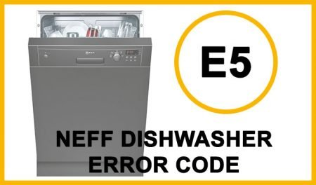 Neff dishwasher error code e5