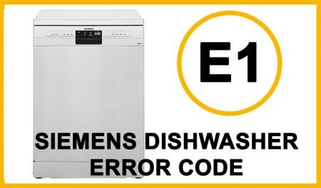Siemens dishwasher error code e1