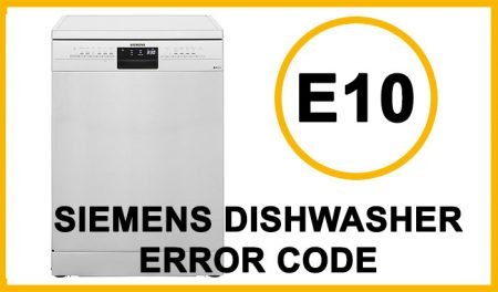 Siemens dishwasher error code e10