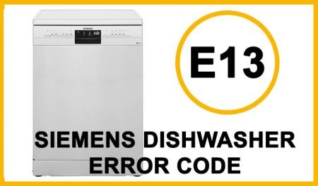 Siemens dishwasher error code e13