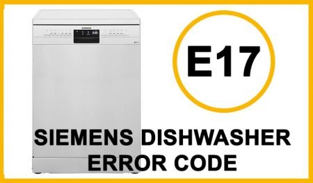 Siemens dishwasher error code e17