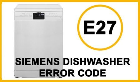 Siemens dishwasher error code e27