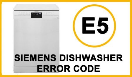 Siemens dishwasher error code e5