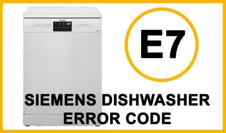 Siemens dishwasher error code e7