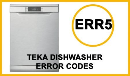 Teka Dishwasher Error Codes Err5