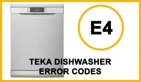 Teka Dishwasher Error Codes e4