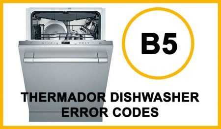 Thermador Dishwasher Error Codes b5