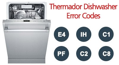 Thermador Dishwasher Error Codes