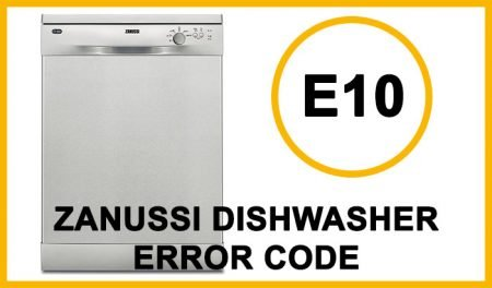 Zanussi Dishwasher Error Codes e10