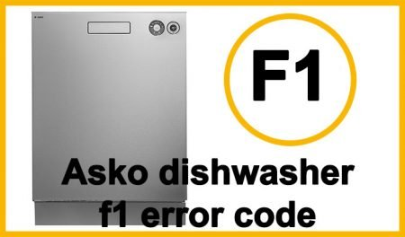 Asko dishwasher f1 error code