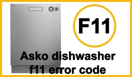 Asko dishwasher f11 error code