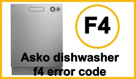 Asko dishwasher f4 error code