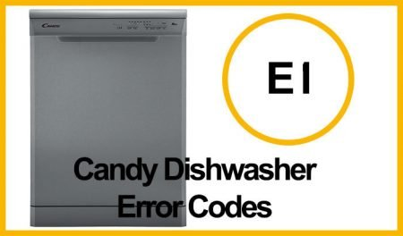 Candy Dishwasher Error EL