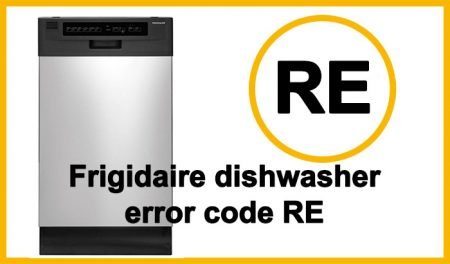 Frigidaire dishwasher error code RE