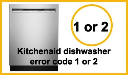 Kitchenaid dishwasher error code 1
