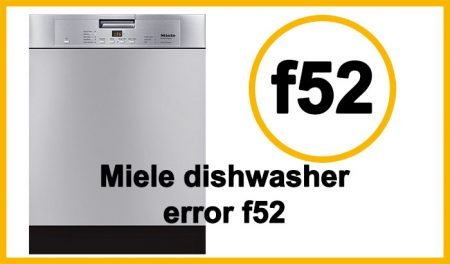 Miele dishwasher error code f11, f14