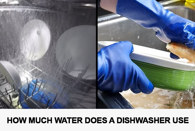 How much water does a dishwasher use